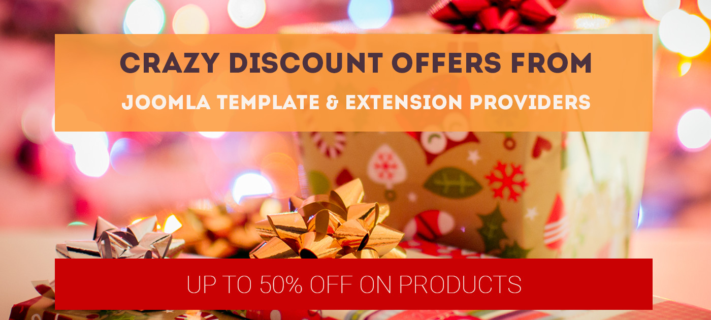 Crazy discount offers from Joomla template & extension providers