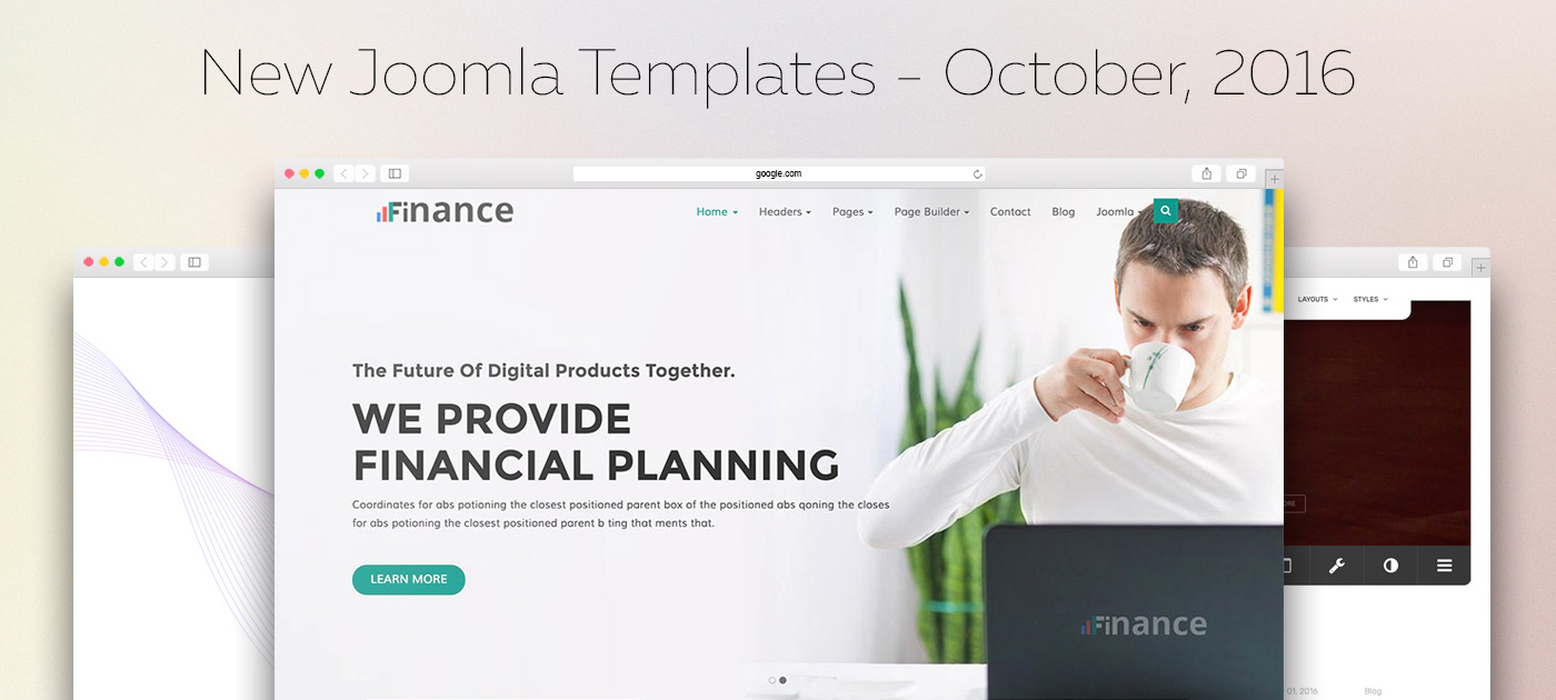 Top Joomla Templates - October 2016