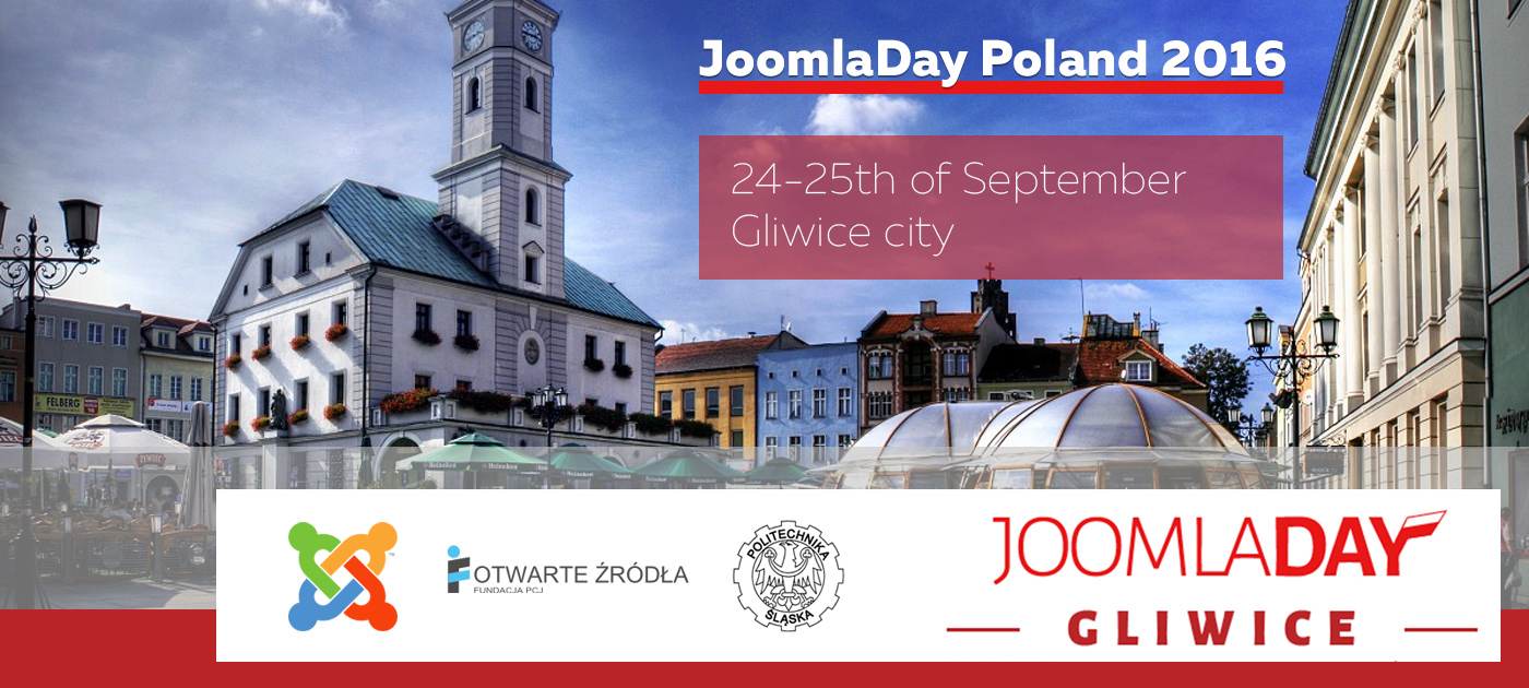 Announce of JoomlaDay Poland 2016 to take place in Gliwice