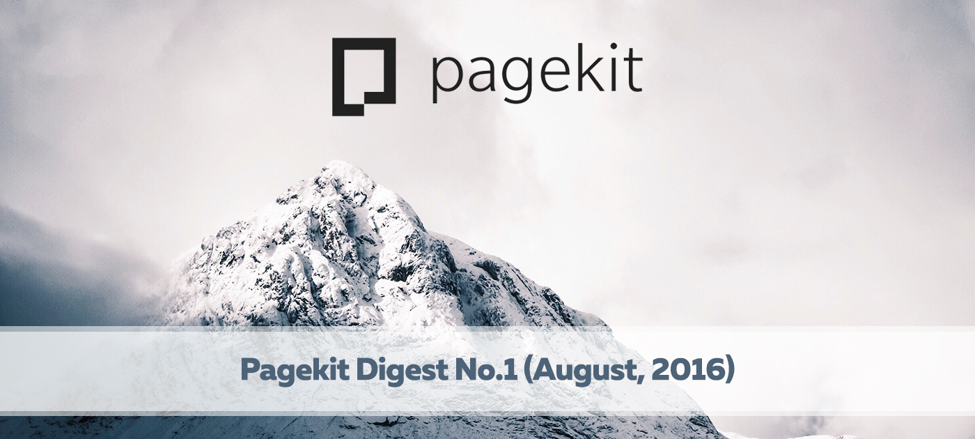 Pagekit digest No1 - August 2016