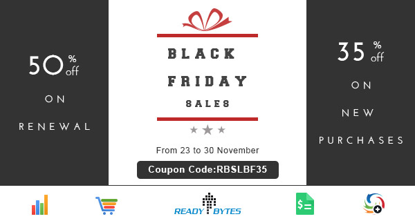 ReadyBytes - ThanksGiving Day discount 2015