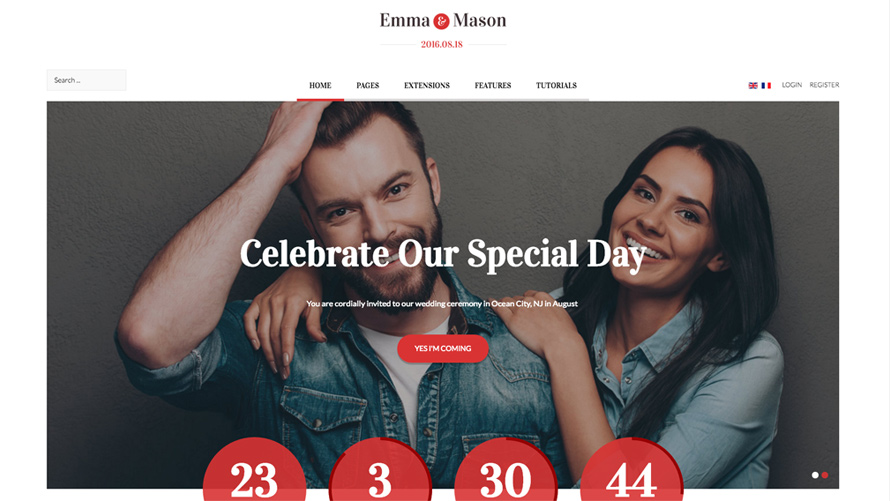 Emma and Mason - Joomla Template by Shape5