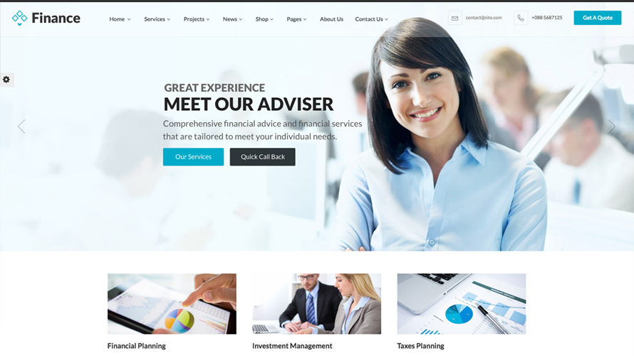 Finance - Business & Financial Joomla Template