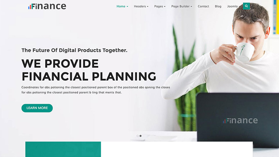 Finance  Template for Joomla