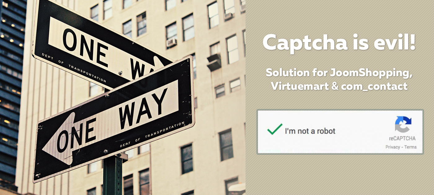 Captcha is Evil! Solution for JoomShopping, Virtuemart and com_contact