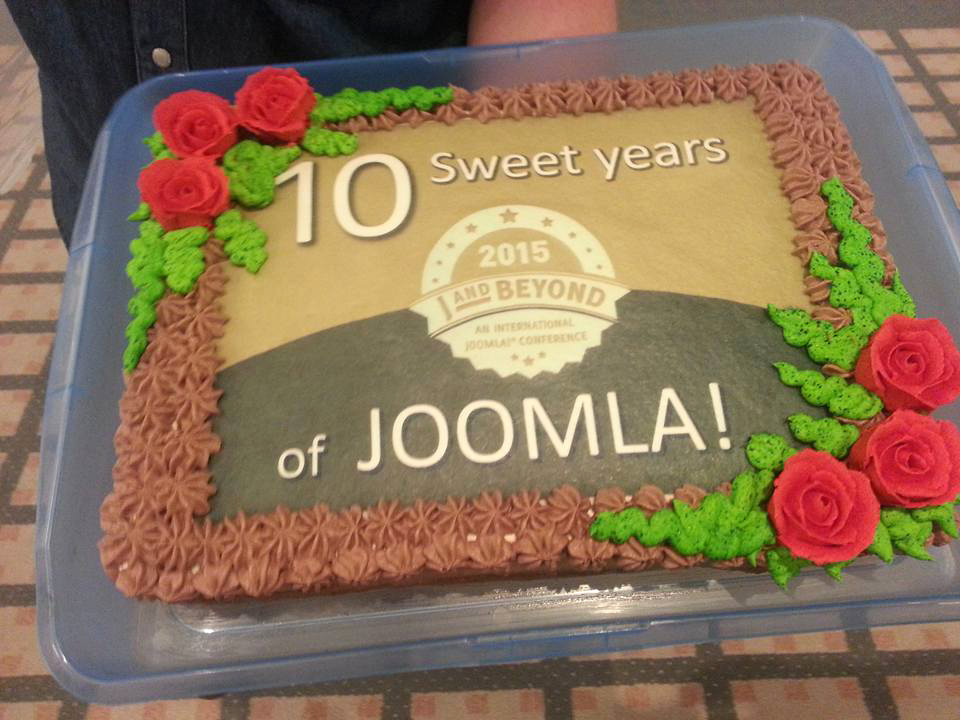 A Joomla cake. It was not enough to all comers. :-)