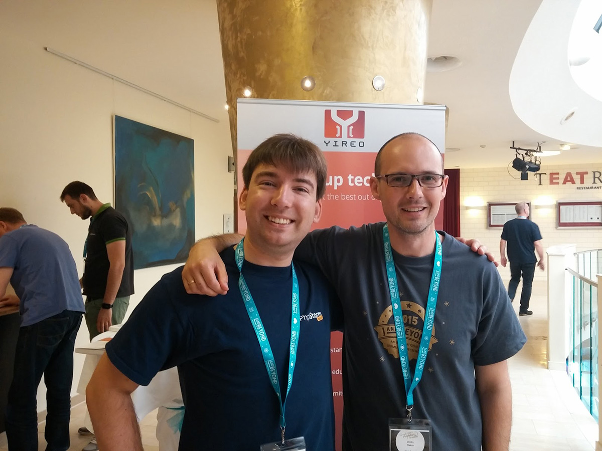 Mikhael Vink (JetBrains) and Dmitry Rekun