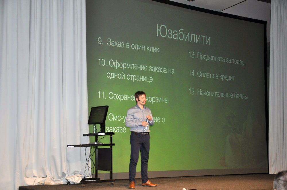 JoomlaDay Russia 2014 - Alexander Kurteev is on the stage