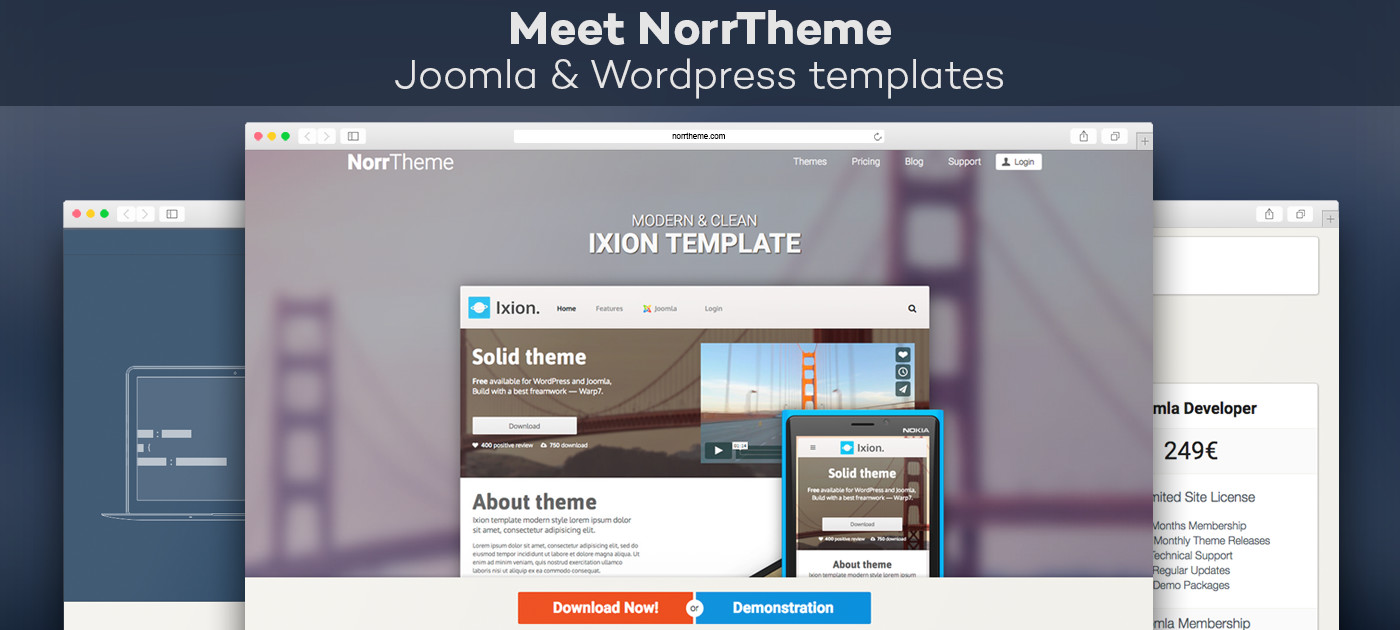Meet NorrTheme - template provider for Joomla & Wordpress